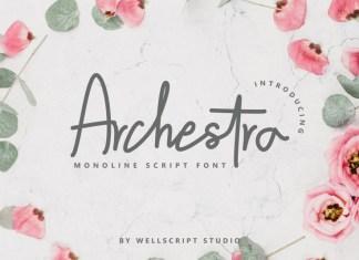 Archestra - Handwritten Script Font