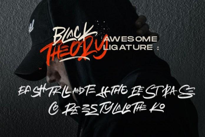Black Theory Urban Brush Font