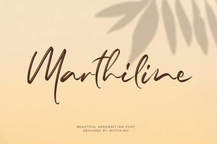 Marthiline HandBrush Font
