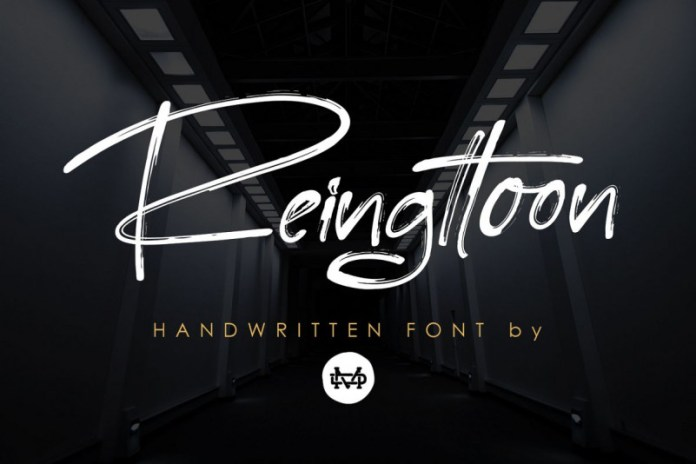 Reingttoon Brush Font