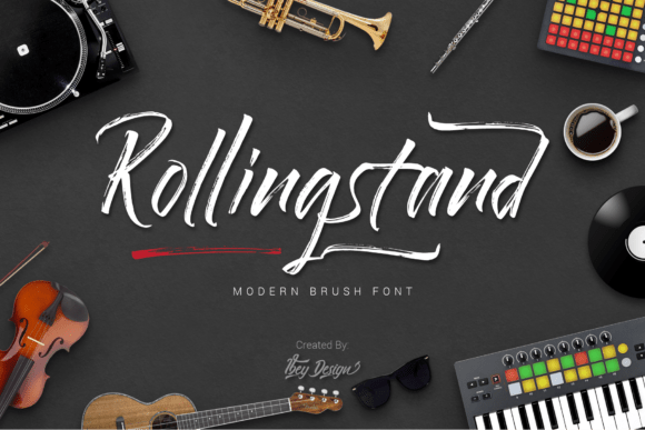 Rollingstand Brush Font