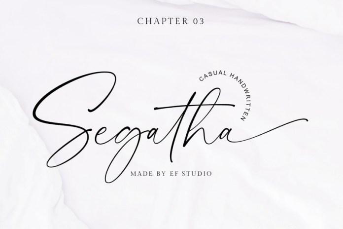 Segatha Handwritten Font
