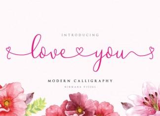 Loveyou Romantic Font
