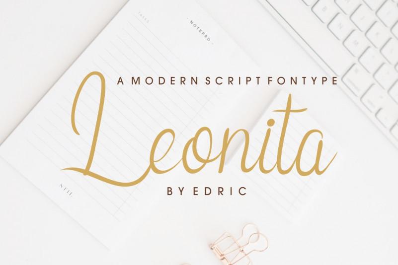 Leonita Calligraphy Font