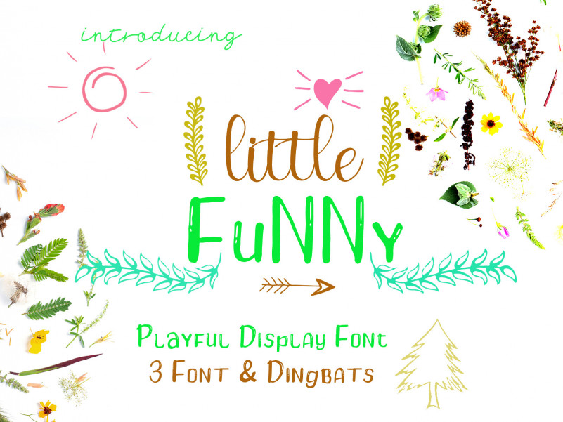 Little Funny - Include 4 Font