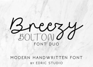 Breezy Bolton Script Font Duo