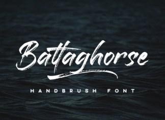 Battaghorse Brush Font Demo