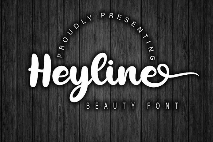 Heyline Bold Script Font