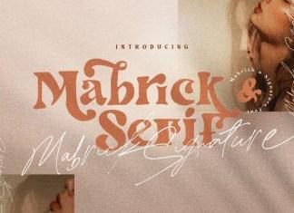 Mabrick - Playful Font Duo