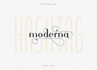 Hashtag Moderna - Duo Font