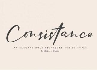 Consistance Signature Font