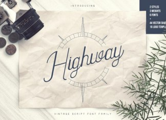 Highway - Vintage Font Family+Extras
