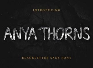 Anya Thorns Grunge Font