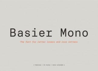 Basier Mono Font Family
