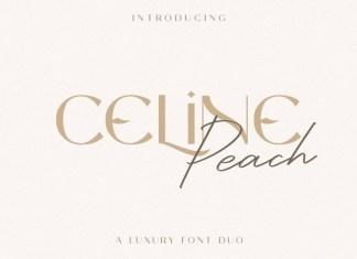 Celine Peach Font Duo