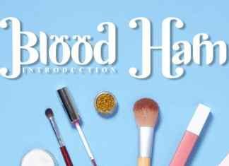 Blood Ham Display Font