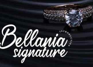 Bellania Signature Font