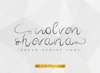Wolven Shevana Brush Font