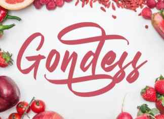 Gondess Calligraphy Font