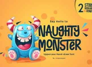 Naughty Monster Display Font