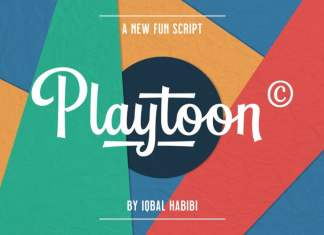 Playtoon - Fun Script Font
