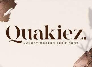 Quakiez Serif Font