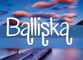 Balliska Handwriting Font