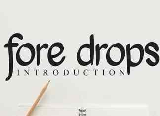 Fore Drops Script Font