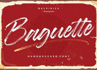 Baguette Natural Handbrushed Font
