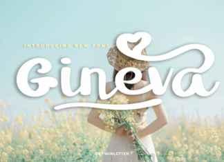 Gineva Script Font