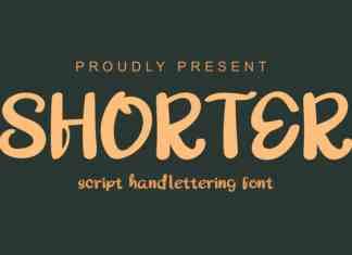 Shorter Bold Script Font