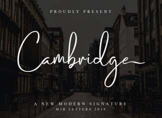 Cambridge Handwritten Font