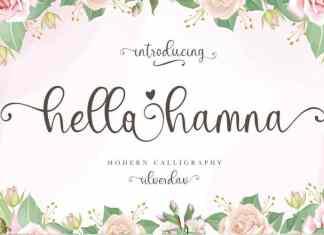Hello Hamna Calligraphy Font