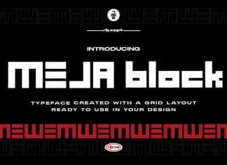 MEJA Block Display Font