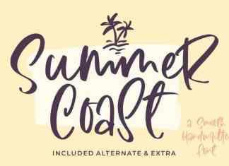 Summer Coast Handwritten Font