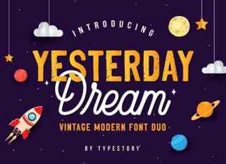 Yesterday Dream Font Duo