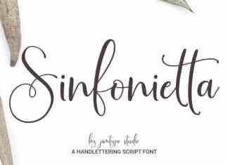 Sinfonietta Modern Script Font