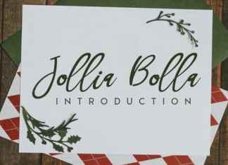 Jollia Bolla Handwritten Font