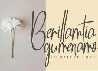 Berillamtia Handwritten Font