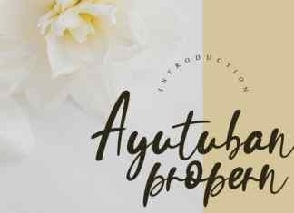 Ayutuban Handwritten Font