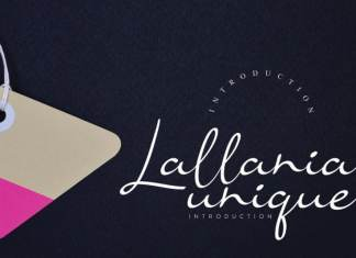 Lallania Handwritten Font