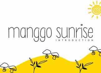 Manggo Sunrise Handwritten Font
