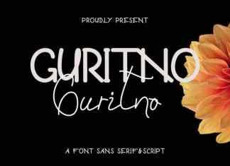 Guritno Handwritten Font Duo