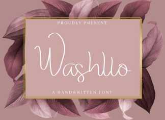 Washllo Handwritting Font