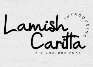 Lamish Caritta Signature Font