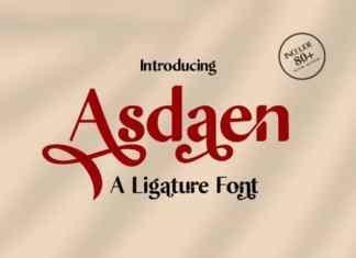 Asdaen Sans Serif Font