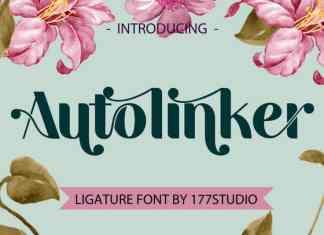 Autolinker – Fancy Ligature Font