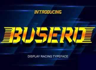 Busero Display Font