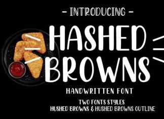 Hashed Browns Handwritten Font