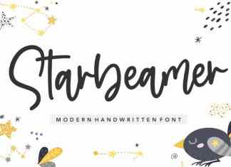 Starbeamer Modern Handwritten font